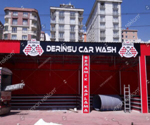 Car Wash Kutu Harf Tabela