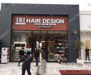 Hair Design Bay-Bayan kuaförü Kutu Harf Tabela