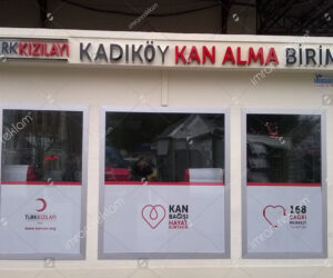 Turk Kızılayı kutu harf Tabela