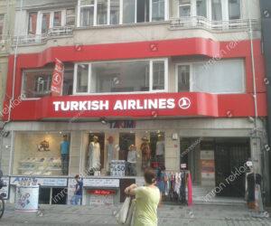 Türkish Airlines Kutu Harf Tabela